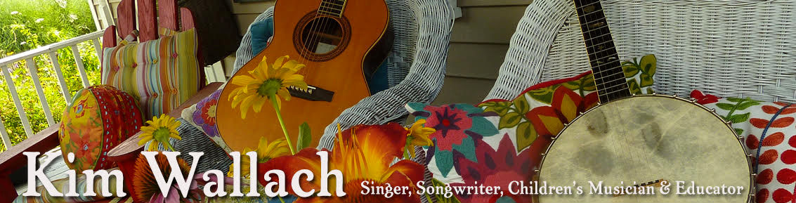 Kim Wallach - Singer, Songwriter, Childrens Musician and Educator web site header image